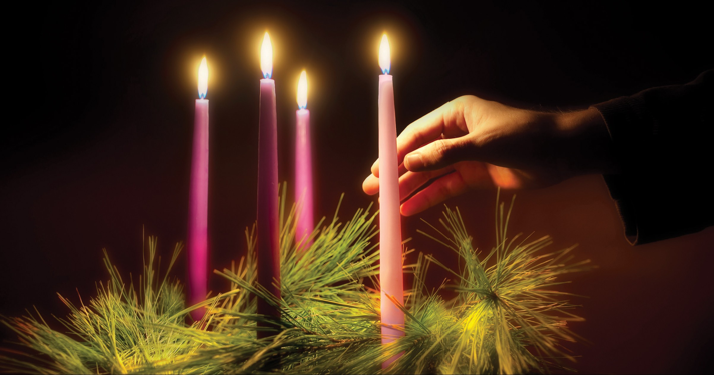 The season of Advent is a time of anticipation and hope before Christmas. The Advent wreath, with a lit candle marking each week of the season, is a traditional symbol of the period. (CNS photo/Lisa A. Johnston) (Oct. 25, 2011)