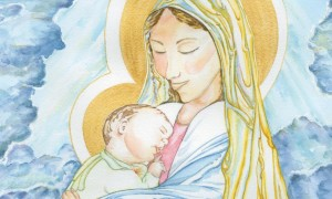Diane Andraska painted this watercolor, Mary Queen of Peace, which was presented to both Pope Benedict XVI and Pope Francis.