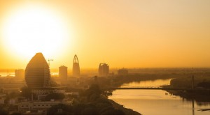 Sunset view of Khartoum, Sudan